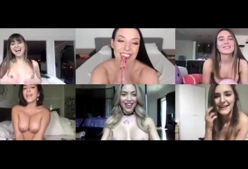 Orgía por videoconferencia con 3 estrellas porno y 3 invitadas Instagramers